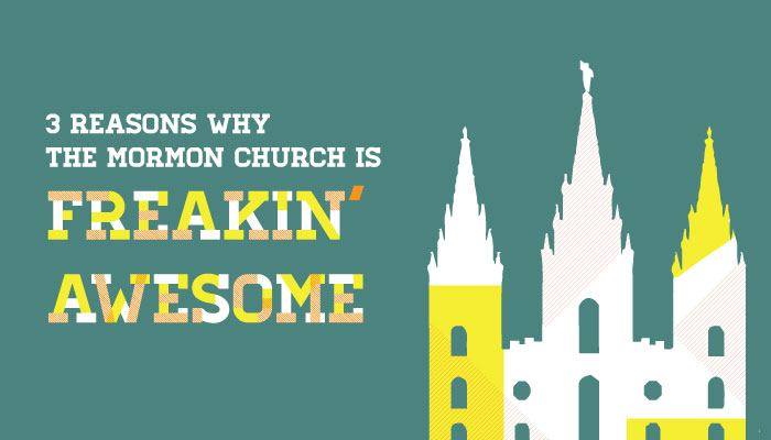 LDS Church is awesome graphic