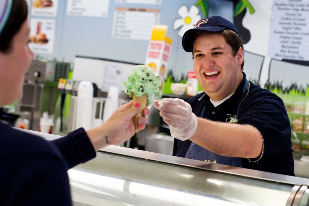 byu creamery serving cone