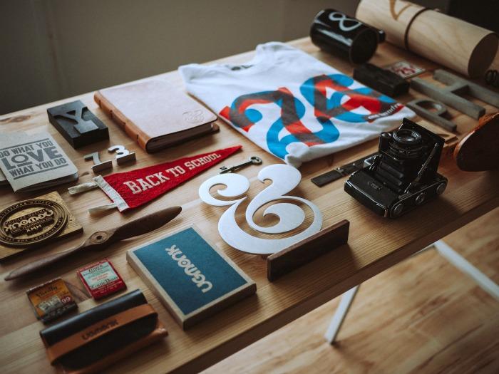A table full of random items