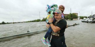 Houston flood evacuation