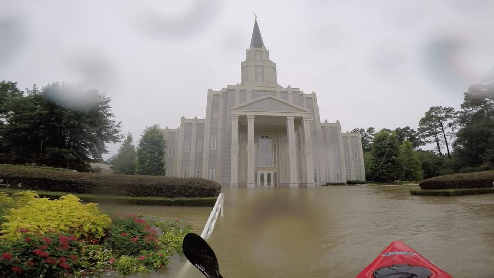 Houston Temple flooded East side