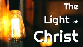 A light bulb representing the Light of Christ