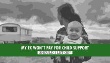 no child support title graphic