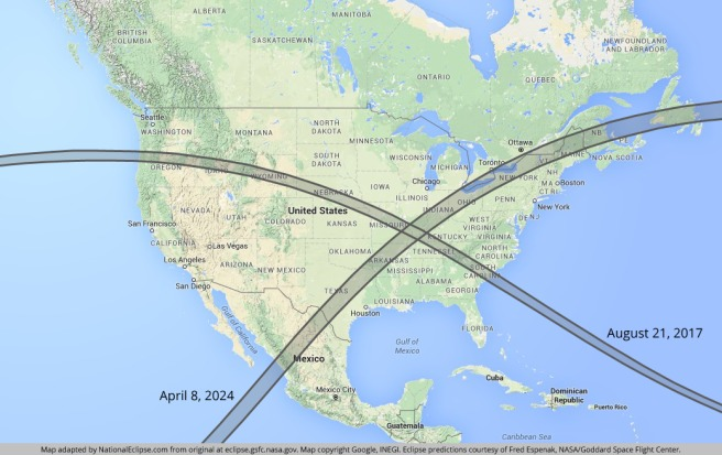 2017 and 2024 eclipses