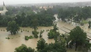 Houston Mormon Temple flooding
