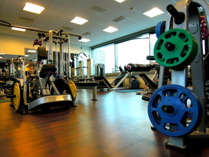 Exercise equipment at a gym
