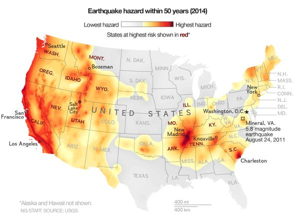 national geographic earthquake map