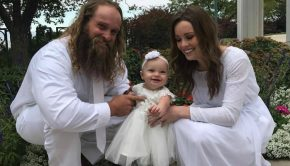 Photo of Diesel Dave and family after LDS Temple Sealing