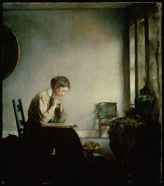 Girl reading R. Edmund Tarbell