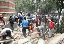 Mexico City quake rubble