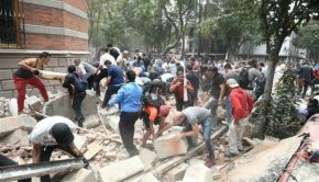 Mexico City quake rubble
