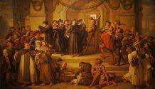 Der Anshchlag von Luther's 95 Thesen