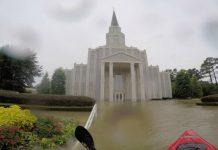 Houston Temple flooding