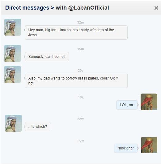 Laman Tweets to Laban