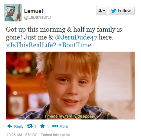 Lemuel references Home Alone in Tweet