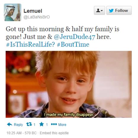 Lemuel references Home Alone in Tweet