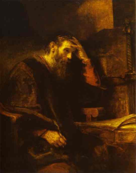 apostle paul rembrandt prophets