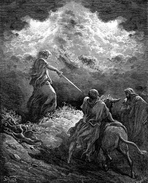 angel appears to balaam paul gustave dore prophets