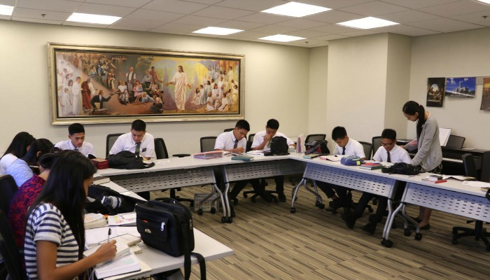 mtc lds missionaries studying