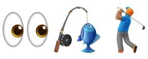 A series of emojis