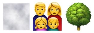 A series of emojis.