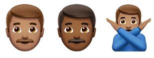 Series of emojis.