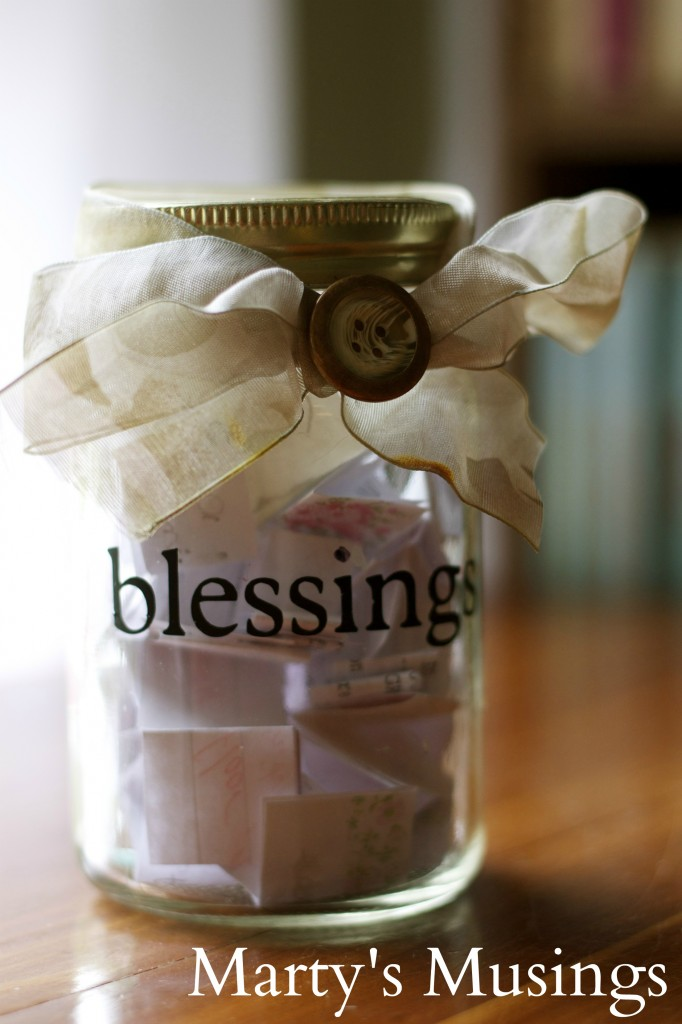 thanksgiving traditions blessing jar