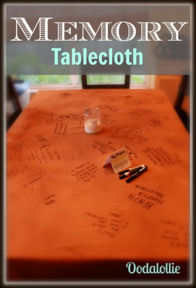 thanksgiving traditions memory tablecloth