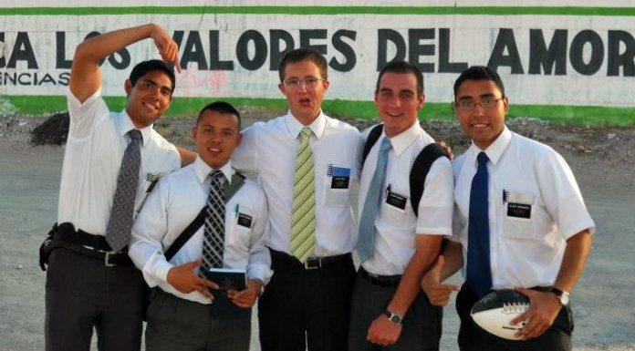 Five Mormon missionaries