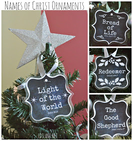 Names of Christ Christmas Ornaments