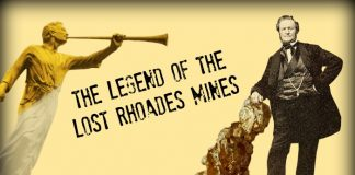The Legend of the Lost Rhoades Mines main image with gold nugget
