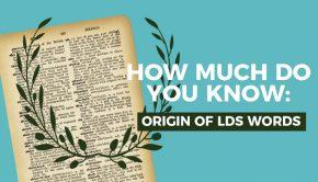 quiz graphic Mormon jargon