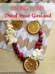 dried fruit Christmas garland