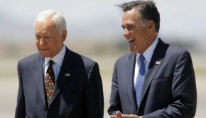 Mitt Romney and Orrin Hatch