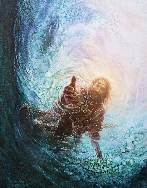 The Hand of God painting of Christ Yongsung Kim Jesus is the way