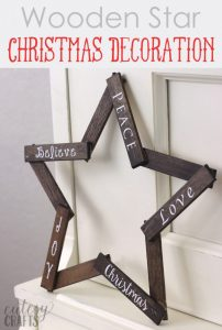 DIY wooden star Christmas decoration