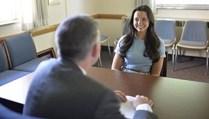LDS Bishop interviewing young single adult