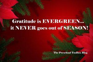 quote gratitude is evergreen