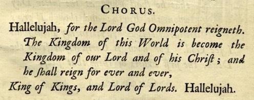 Hallelujah chorus text Messiah