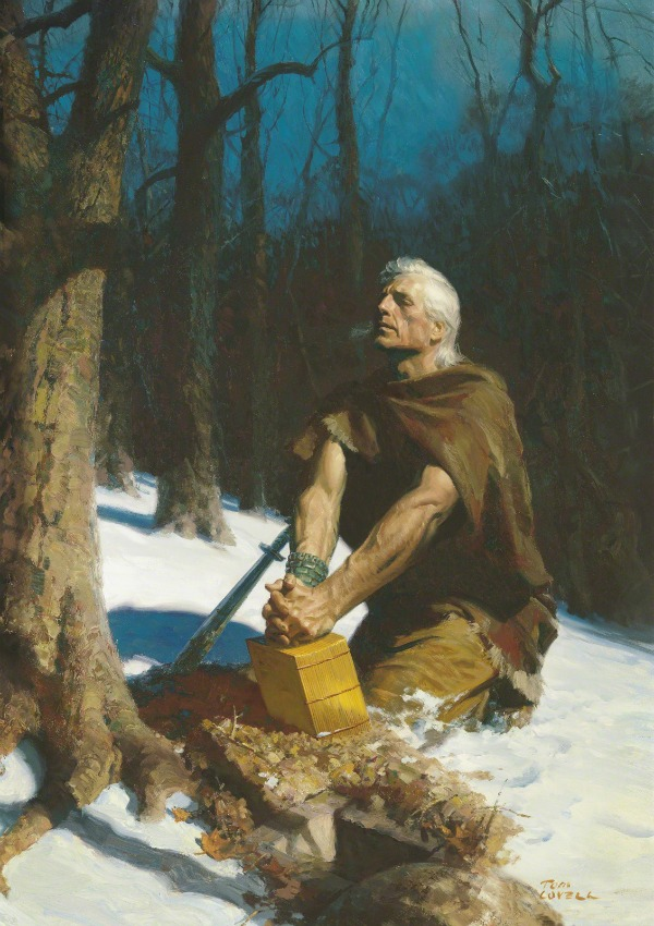 Painting by Arnold Friberg