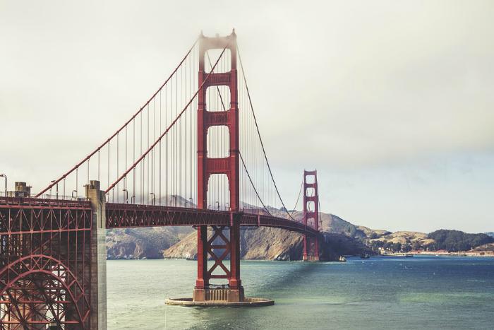 Image of the Golden Gate Bridge in San Francisco, California.