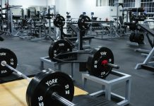 a gym full of equipment