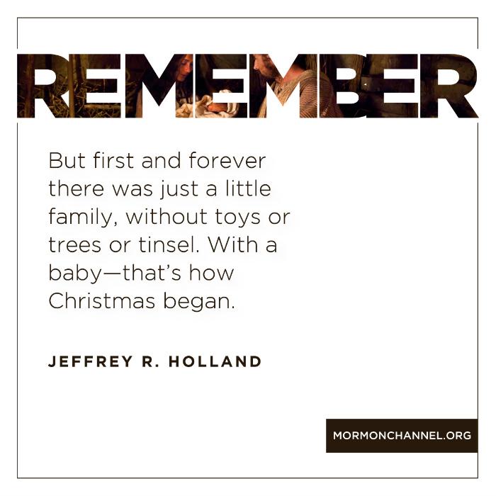Nativity, christmas, Jeffrey R. Holland