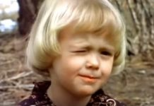 Cute 1980s LDS kid winking