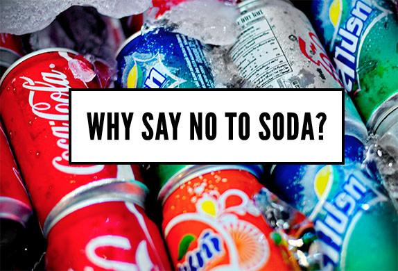 say no to soda graphic
