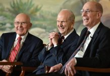 Image of the new LDS First Presidency