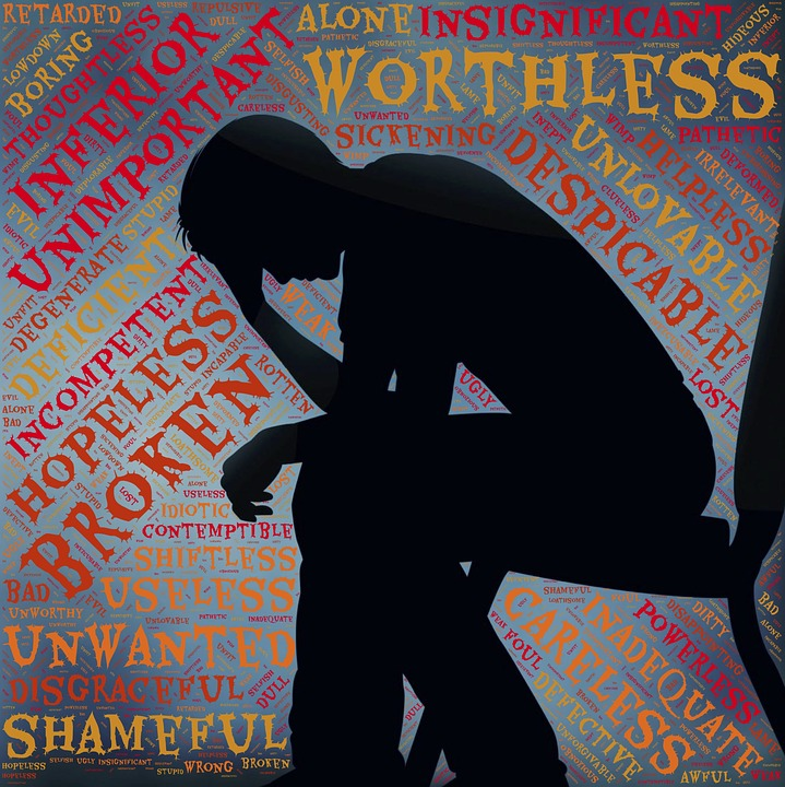 silhouette image of depressed person-mormon