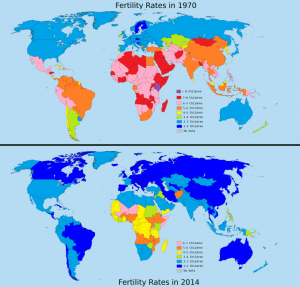 fertility rates map