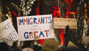 immigrants protesting