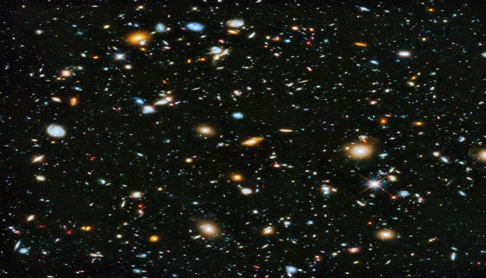 stars in the firmament, deep space